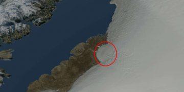 Hallan un cráter del tamaño de una ciudad en Groenlandia y causado por un asteroide