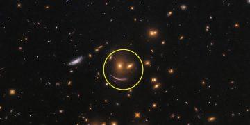 Hubble encuentra una «cara feliz» en el Universo