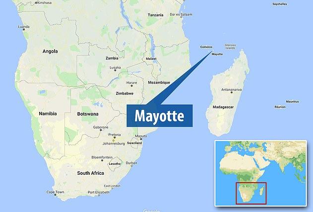 Las extrañas ondas se remontan a un origen aproximadamente a 24 kilómetros de la isla francesa, Mayotte