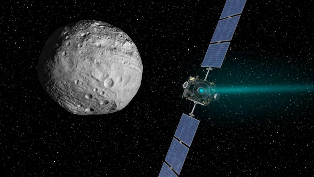 Nave espacial Dawn en su misión a Ceres