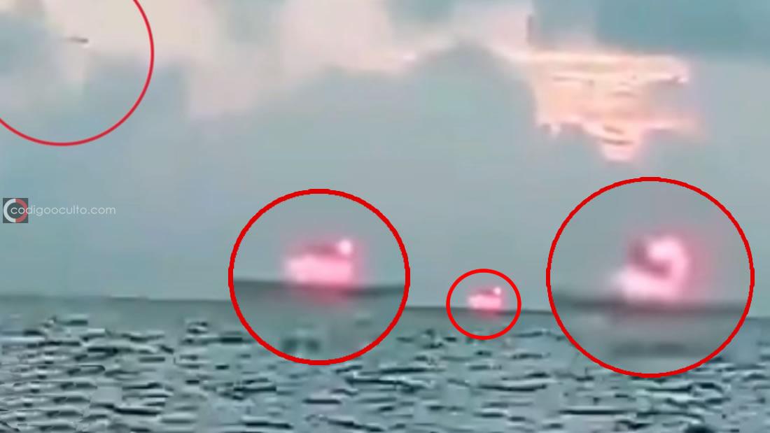 Pescador captura una «gigantesca fuente de energía» emergiendo del Océano Pacífico (Vídeo)