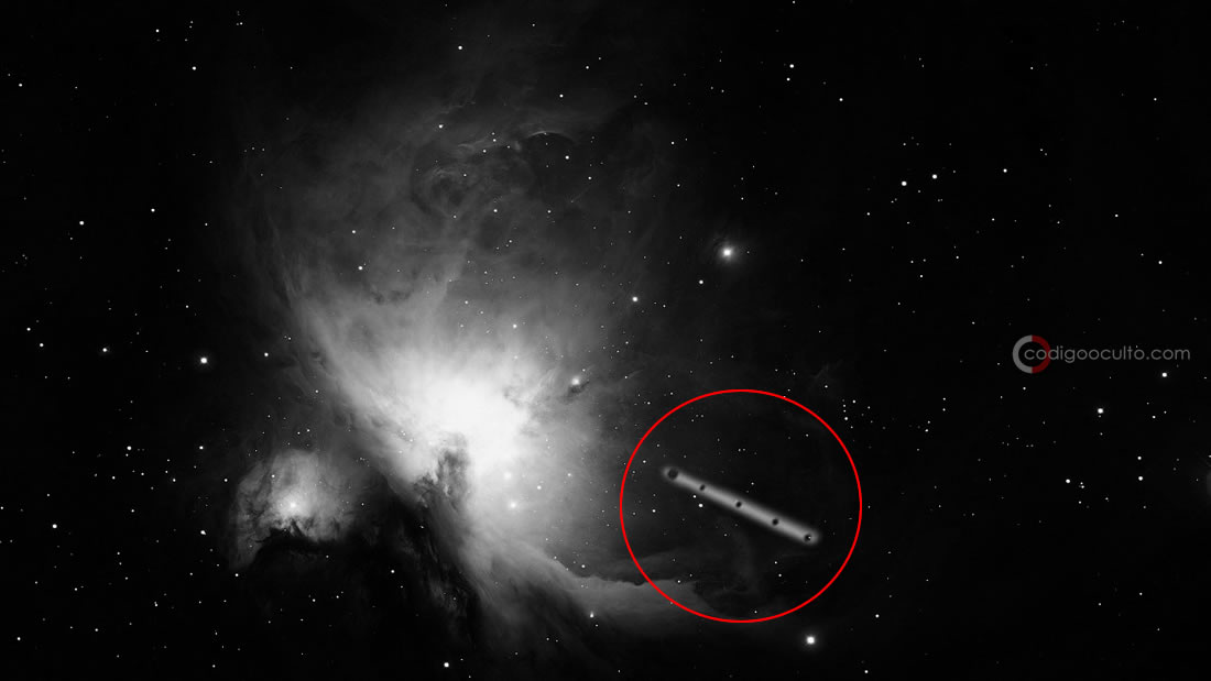 Posible nave interestelar gigantesca es vista cerca de la Nebulosa de Orión