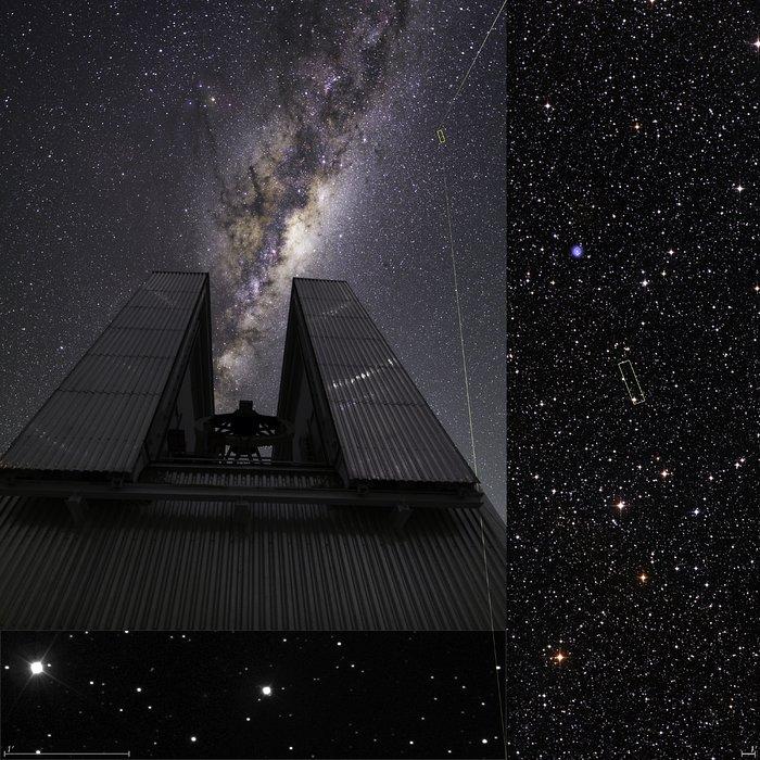 La Vía Láctea contiene cientos de miles de millones de estrellas. Sin embargo, la estrella en el centro de esta imagen aún se las arregla para ser muy inusual