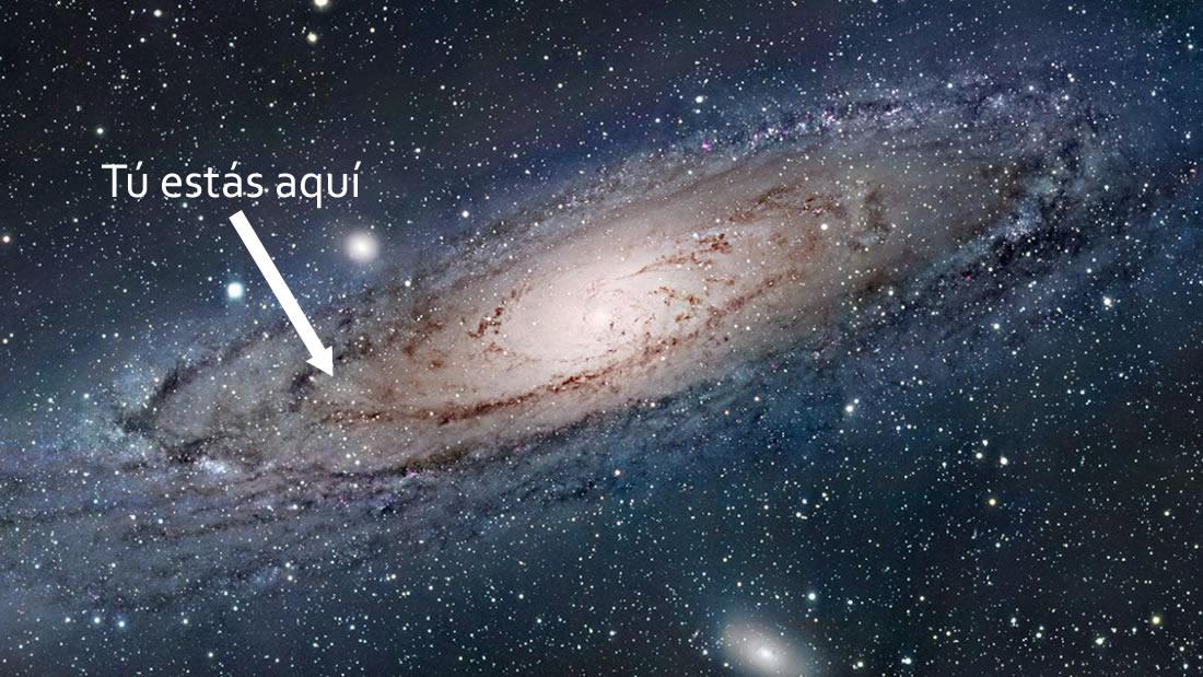 Revelación de lo pequeños que somos comparados con el Universo