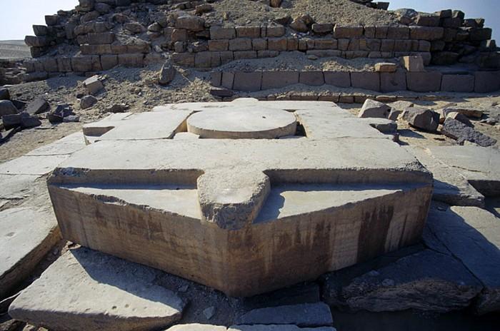 Plataforma o Altar en el Templo solar de Nyuserra