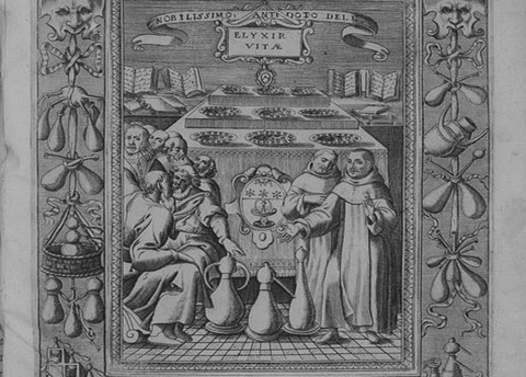 Ilustración del libro Elixir de la vida, de Donato d'Eremita, 1624