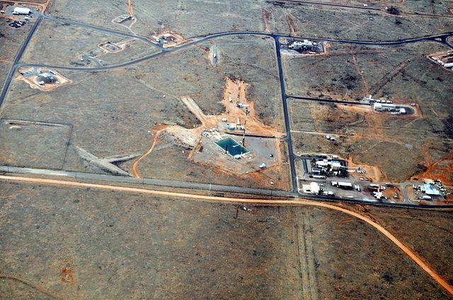 Vista aérea de una parte de la Base Aérea de Kirtland, en Nuevo México, EE. UU.
