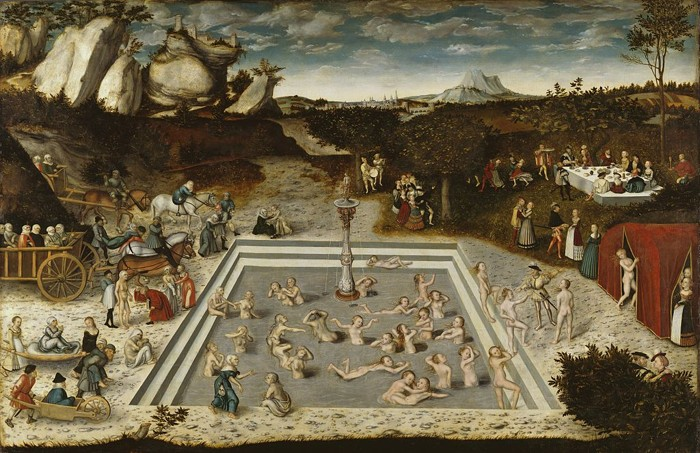 La Fuente de la Eterna Juventud, pintura de Lucas Cranach el Viejo, 1546