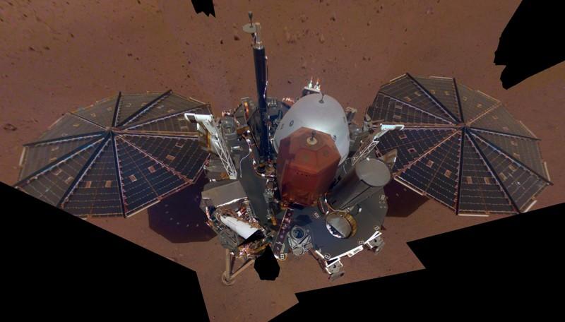 Un selfie de Insight en Marte