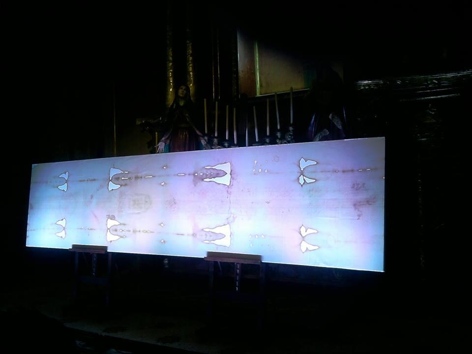 Réplica del Santo Sudario expuesto en Buenos Aires, Argentina