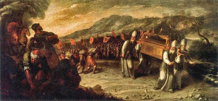 El paso del río Jordán con el arca de la alianza. Autor: Juan Montero de Rojas, siglo XVII