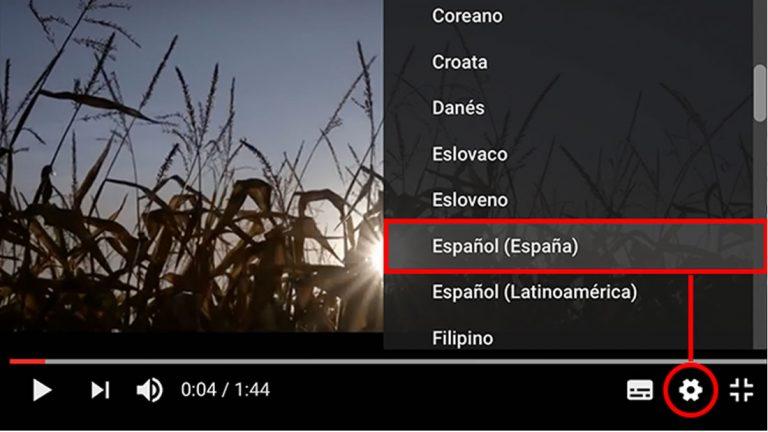 ¿Cómo activar los subtítulos en un vídeo de Youtube y traducirlos a español automáticamente?