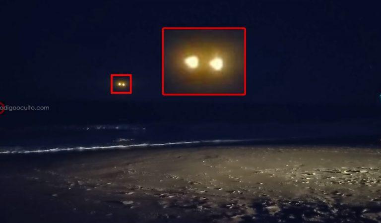 Extraño OVNI es grabado sobre el mar en Carolina del Norte, EE.UU.