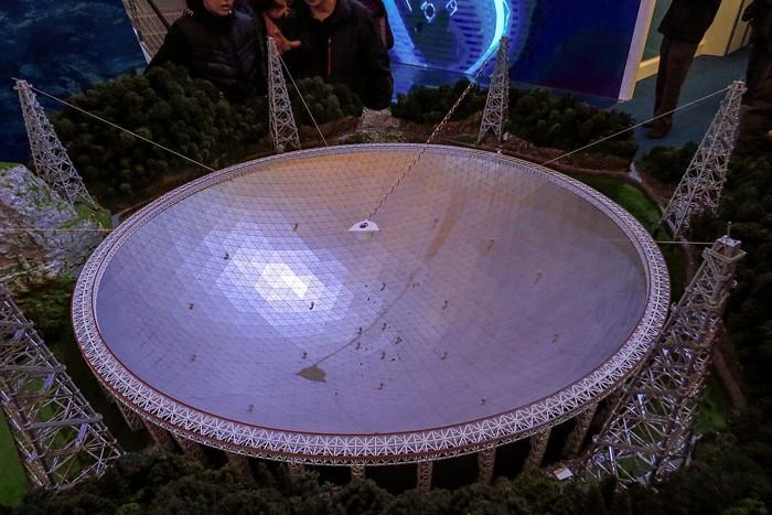 Modelo del Five Hundred Meter Aperture Spherical Telescope