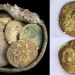 Hallan una olla con monedas de oro y un pendiente de los cruzados de hace 900 años en Israel