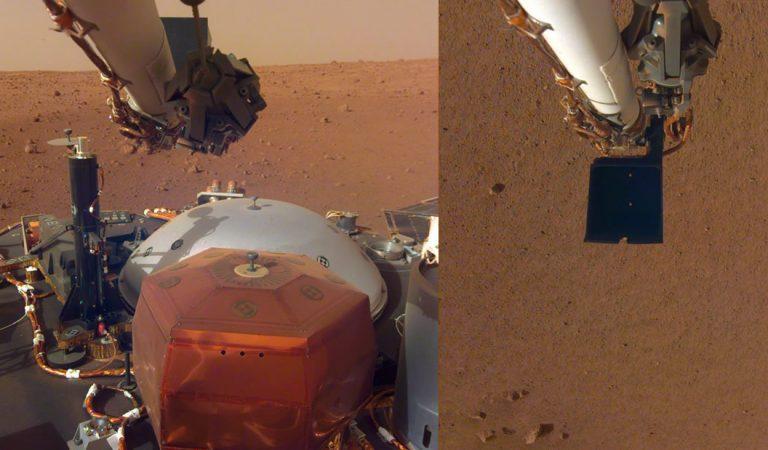 Insight revela nuevas imágenes de Marte y el chip que contiene los nombres de 2.4 millones de personas