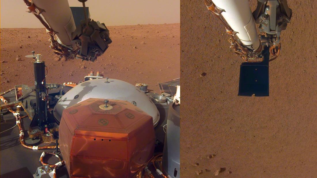 Insight revela nuevas imágenes de Marte y el chip que contiene los nombre de 2.4 millones de personas