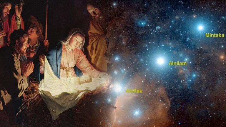 ¿La historia de Navidad dibujada en las estrellas?