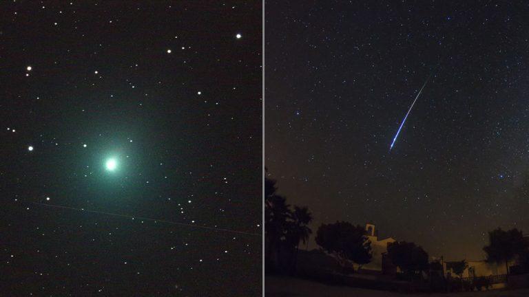 Lluvia de meteoros y un cometa iluminarán el cielo este fin de semana