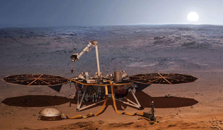 Primeras imágenes del Mars Insight lander desde el espacio