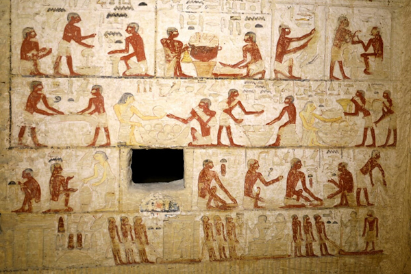 La tumba posee pinturas muy bien conservadas