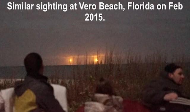 Avistamiento OVNI en Florida en el año 2015. Es bastante similar al ocurrido en noviembre de este año