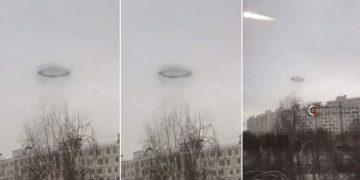 Un extraño anillo negro aparece sobre el cielo de Rusia