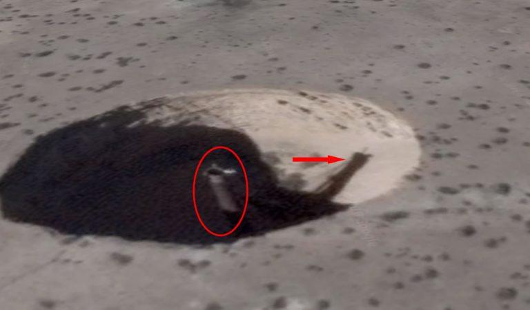 Un misterioso cráter aparece junto a la base secreta Área 51