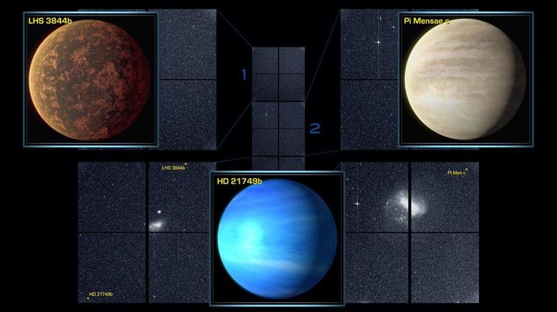 Los tres mundos descubiertos por TESS