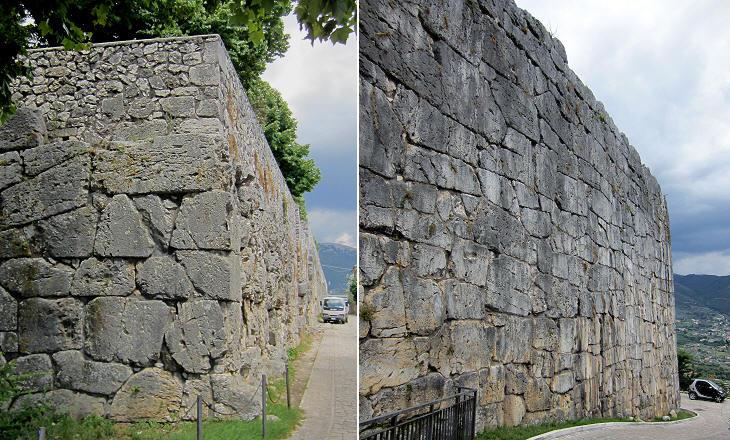 Altas murallas con bloques poligonales