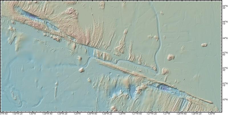 La Zona de Falla de Blanco, generada con GeoMapApp
