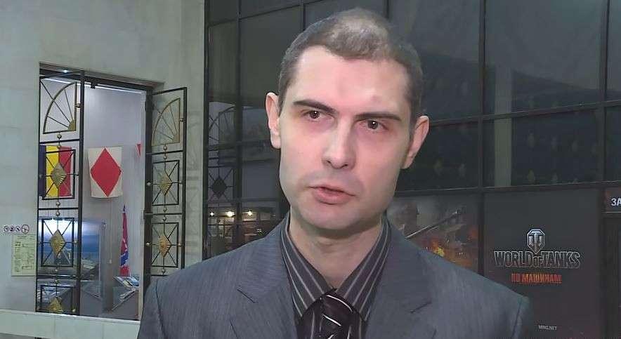 Una captura de pantalla de una entrevista que Yevgeny Shabayev le dio a Radio Svoboda, un servicio de noticias en idioma ruso que forma parte de Radio Free Europe / Radio Liberty, operada por el gobierno de los EE.UU., en 2018