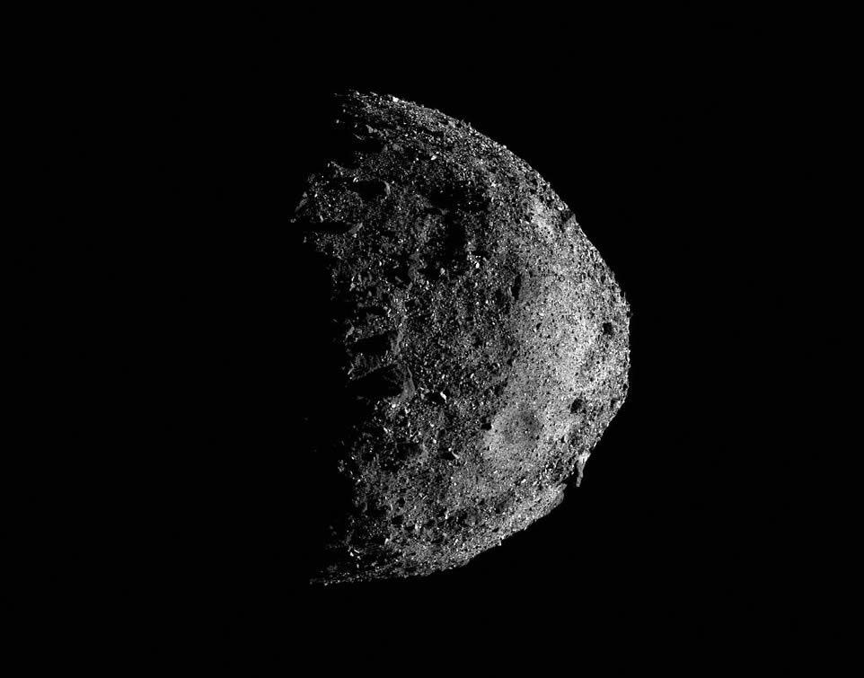 Asteroide Bennu, visto por la nave espacial OSIRIS-REx