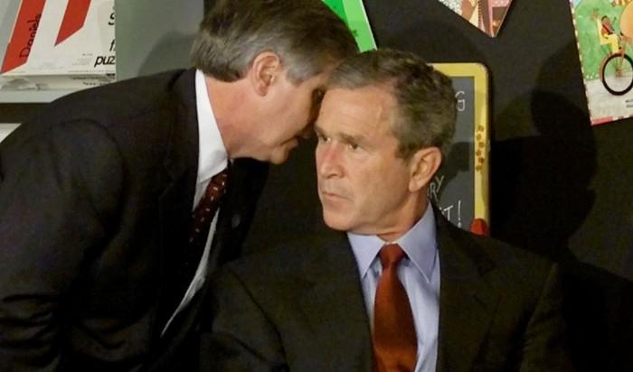 De acuerdo a la supuesta información del 11-S, el ex presidente de EE.UU., George W. Bush, tuvo conocimiento de antemano de los ataques