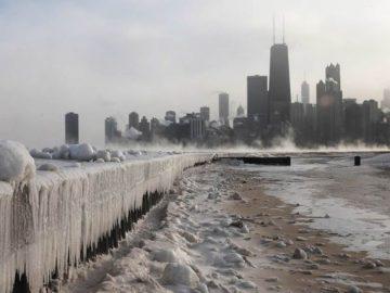 Chicago está tan frío en este momento que la gente está reportando «temblores de escarcha»