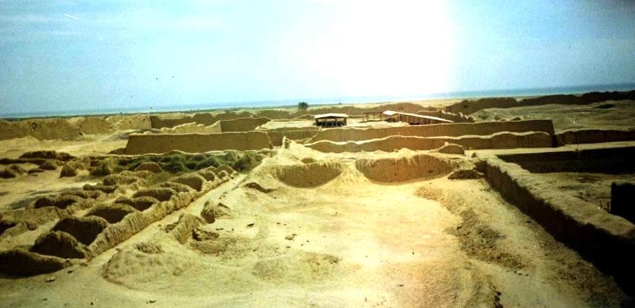 Conjunto amurallado Nik An en Chan Chan, la capital del imperio antiguo de Chimú