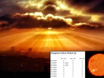 En este momento una tormenta solar golpea la Tierra