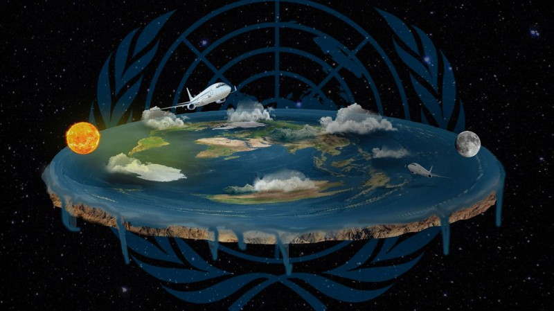 La Tierra según los terraplanistas ...