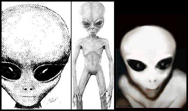 Ilustraciones de la especie alienígena de los Grises