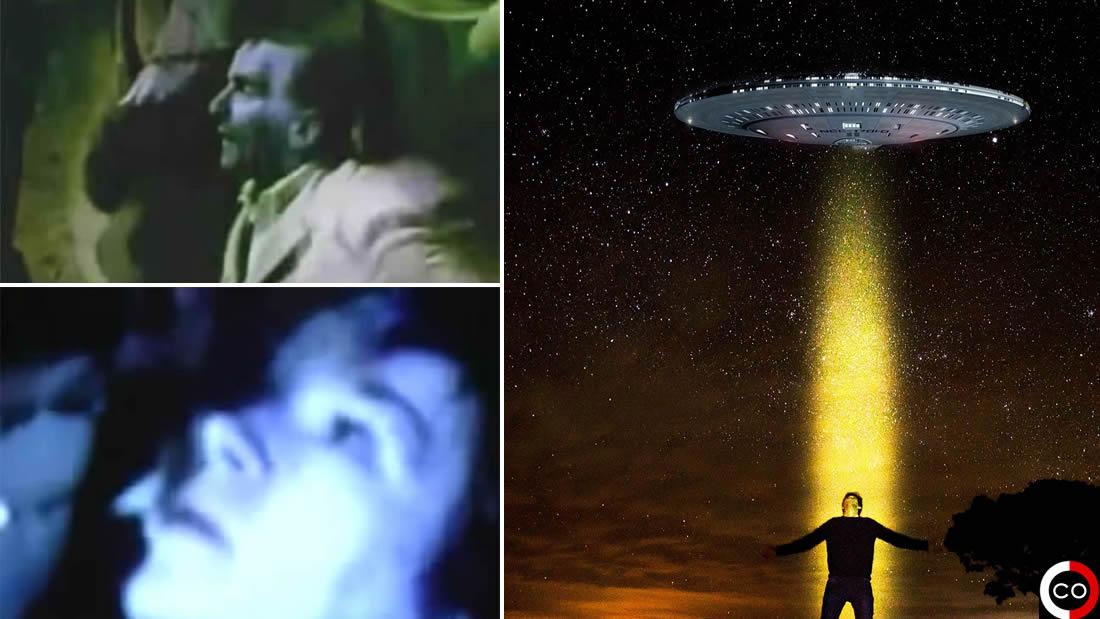 La película también muestra una luz que aparece en el cielo. El grupo cae de rodillas en oración, la luz se vuelve más brillante y luego desaparece.