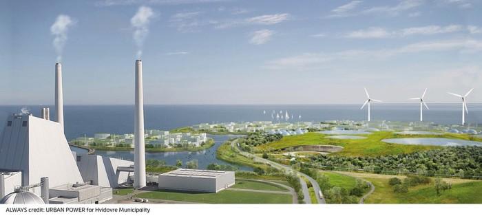 Holmene producirá una gran cantidad de energía verde a partir de turbinas eólicas y lo que Urban Power denomina la planta de residuos de energía más grande del norte de Europa