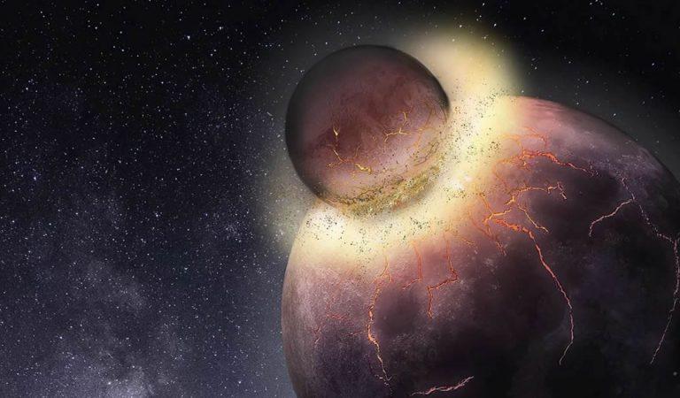 La vida vino de otro planeta que se estrelló con la Tierra