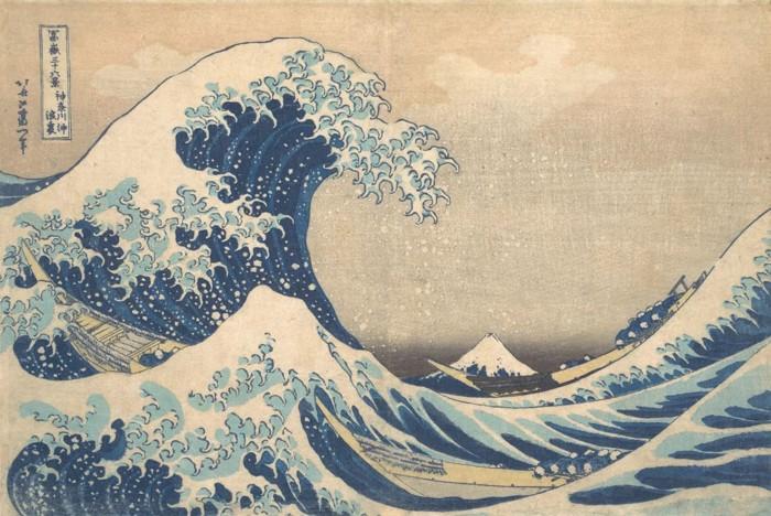 La famosa pintura de la artista japonesa Katsushika Hokusai, conocida como «Under the Wave off Kanagawa» y «The Great Wave» se cree que es la recreación de una ola monstruosa