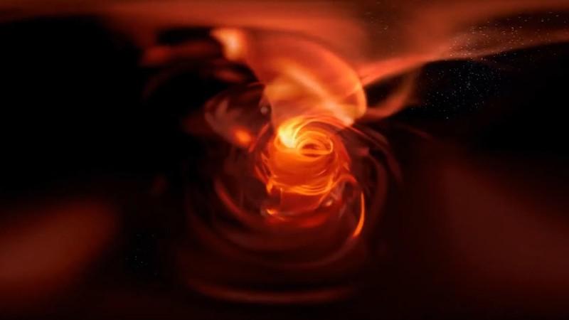 Recreación de Sagitario A *, el agujero negro del centro de nuestra galaxia