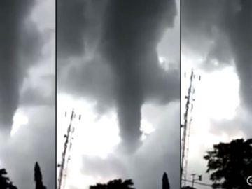 Un gigantesco tornado barre una ciudad en Indonesia. Crecen temores por manipulación del clima