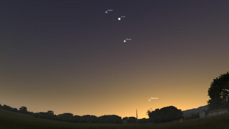 La Luna, Venus y Júpiter «se unirán» en el cielo este 31 de enero al amanecer