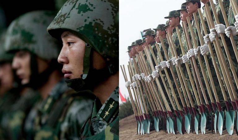 60.000 soldados en China fueron enviados a plantar árboles en un área de 84.000 kilómetros cuadrados