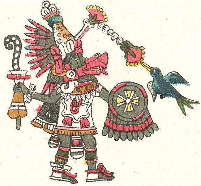 Quetzalcóatl representado en el Códice Magliabechiano