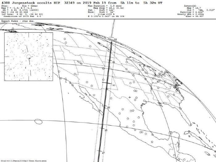 Un asteroide bloqueará la estrella más brillante mañana