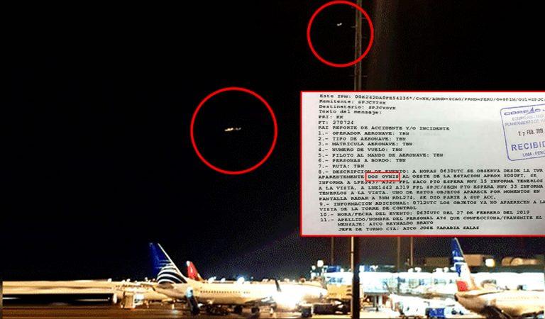 Aeropuerto de Perú reporta que dos OVNIs estuvieron durante una hora sobre una pista de aterrizaje